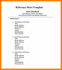 template for reference page reference sheet template 30 free word
