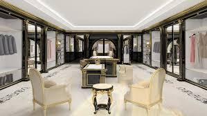 a luxury walk in closet for exclusive villas