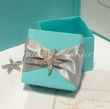 wedding gift boxes uk blue silk wedding favour box with starfish