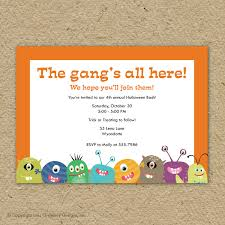 astonishing little monster birthday party invitations birthday