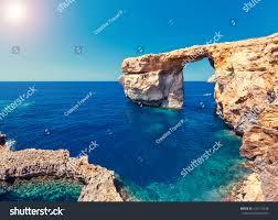 fantastic views rocky coast on sunny stock photo 410713348