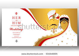 weeding card indian wedding card gold crystals color stock vector 531848005