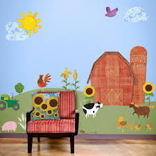 Wall Decals For Boys Room Farm Mural Sticker Decal Kit For Baby Room Free Personalization