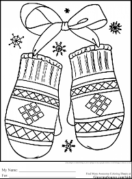 beautiful printable mitten template with mitten coloring page