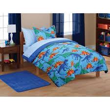 Dinosaur Double Duvet Mainstays Kids U0027 Dinosaur Coordinated Bed In A Bag Walmart Com