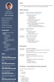 Html5 Resume Web Resume Examples Resume Example And Free Resume Maker