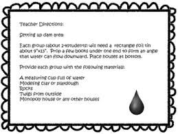 Water Challenge Directions Flash Flood Stem Challenge By Stemsational Activities Tpt