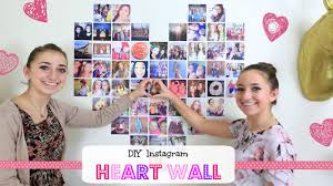 Wall Decorations For Valentine S Day by Diy Instagram Heart Wall Valentine U0027s Day Ideas Youtube