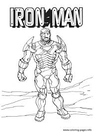 the fierce iron man a4 avengers marvel coloring pages printable