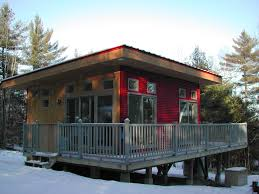 nice red and brown modern cottage plans can be decor with white