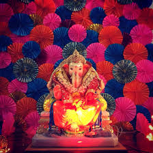 Decorations For Diwali At Home The Pinwheel Decor Ganapati Decoration Pinterest Decoration
