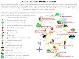 Ca State Parks Map by Gold Country To High Sierra U2014 Sierra Nevada Conservancy