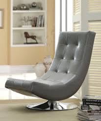 living room swivel chairs upholstered accent chair in gray cm ac6912gy trinidad collection ultra modern