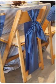 blue chair sashes knotted chair sashes chair sash ideas pt 2 folding chairs