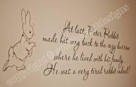 beatrix potter rabbit nursery beatrix potter rabbit quote wall sticker design 2