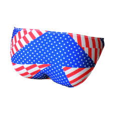 American Flag Swimming Trunks Mens Briefs With American Flag Printing G String Posing