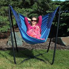 Chair Hammock With Stand Sunnydaze Hanging Hammock Chair Swing With Space Saving Stand