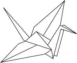 tattoo geometric outline outline paper crane tattoo design tattoo ideas pinterest