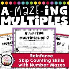 multiplication mazes multiplication free practice with multiples
