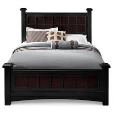 Mosaic Bedroom Set Value City Winchester Queen Bed Black And Burnished Merlot American