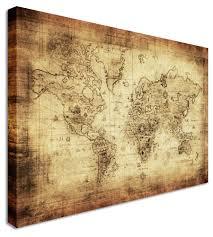 World Map Poster Large 15 World Map Prints Wall Art World Map Poster Rustic Map Poster