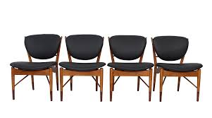 Baker Dining Room Chairs Four Model 51 Dining Chairs By Finn Juhl For Baker Midmod Decor