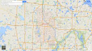 Map Minnesota Minneapolis Minnesota Map