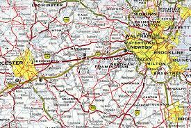 road map massachusetts usa interstate guide interstate 290 massachusetts