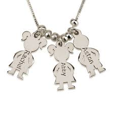 mothers necklace sterling silver s necklace boy and girl buy now
