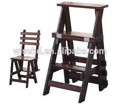 pine wood folding convertible step ladder chair w c 1230 buy