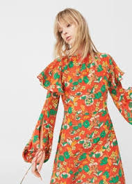 flower dress 100 silk flower dress woman mango united kingdom