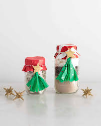 how to make christmas tree toppers for gifts in a jar martha stewart