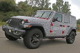 jeep camo spied 2018 jeep wrangler jl unlimited totally uncovered photo