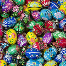 painted wooden easter eggs center wooden easter eggs pisanki floral design 1