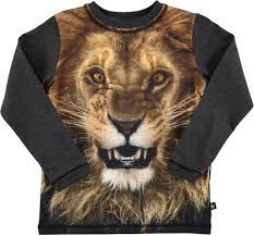 lion print reto lion molo long sleeve t shirt with lion print molo