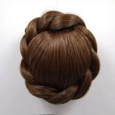 clip on hair 1pc chignon bun hairpiece synthetic elastic bun updo