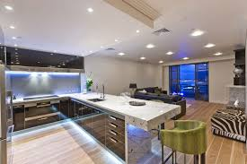 kitchen light dark modern kitchen with cabinet and island lighting