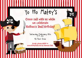 A Birthday Invitation Card Pirate Birthday Invitations Kawaiitheo Com
