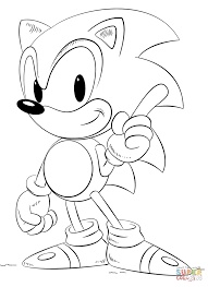 sweet looking sonic coloring pages free printable sonic the