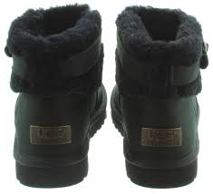 ugg s jocelin boot ugg jocelin fur ankle boots in black in black