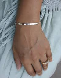 sterling silver personalized jewelry bracelet silver name bar bracelet personalized jewellery
