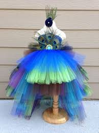 gorgeous feathered peacock tutu dress halloween costume pageant