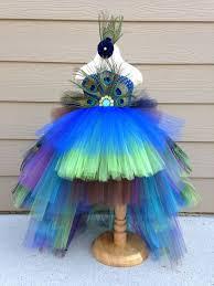 Child Peacock Halloween Costume Gorgeous Feathered Peacock Tutu Dress Halloween Costume Pageant
