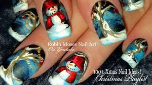 how to hand paint christmas nails diy snowman nail art design