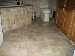 completed porcelain tile floor with pinwheel pattern layout