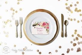 printable wedding place cards cards watercolor