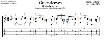 greensleeves by francis cutting free pdf or tab this is