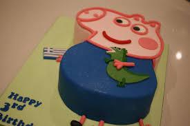 peppa pig george u0026 the dragon 3rd birthday cake bakealous
