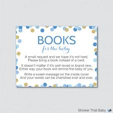 Baby Shower Invitations Bring A Book Instead Of Card Blue And Gold Baby Shower Bring A Book Instead Of A Card