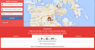 Trip Planner Map Bptc Launches Trip Planner App Bahrain Public Transport Company
